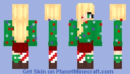 ~ƇΔƬƬ~ | Christmas Tree Girl Minecraft Skin