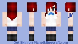 Fairy Tail: Erza Scarlet's every day clothes (エルザ・スカーレット) Minecraft Skin