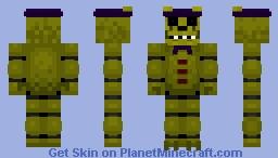 Golden Freddy Minecraft Skin