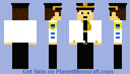 Male NYPD Captain Minecraft Skin