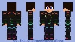 Glowing Futuristic Armor - me Minecraft Skin