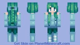 ѕea ғoaм and тнe ocean ~ doeѕ тнιѕ looĸ lιĸe вмo? Minecraft Skin