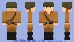 WWII Russian Soldier Minecraft Skin