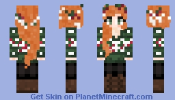Auburn Green Christmas Jumper Different Colors in Description! Minecraft Skin