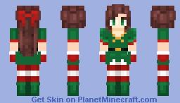 Christmas Elf Costume - Female Skin 1 Minecraft Skin