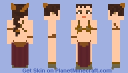 SW: Slave Leia Minecraft Skin