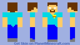 herobrine as mike from five nights at freddys Minecraft Skin
