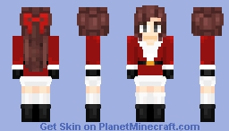 Santa Claus Costume - Female Skin 1 Minecraft Skin