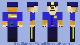 Doge cop! (With gun) Minecraft Skin