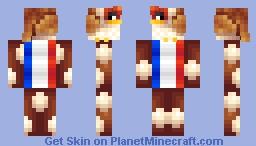 French Hen (Head Block) Minecraft Skin
