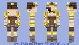 ∫ Steampunk warrior (Better in 3D) ∫ Minecraft Skin