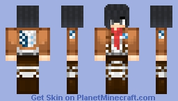 Mikasa~ᴀᴛᴛᴀᴄᴋ ᴏɴ ᴛɪᴛᴀɴᴛ Minecraft Skin