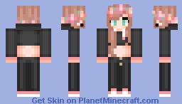 Hoodie Flower Girl Minecraft Skin