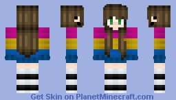 Pan Pride Girl Minecraft Skin