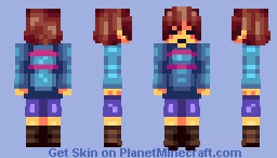 Frisk - Undertale - DETERMINATION Minecraft Skin