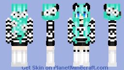 my oc.!!   αмвєя ( Its okay its just you know it looks bad the cat bell it fine once u click it ) Minecraft Skin