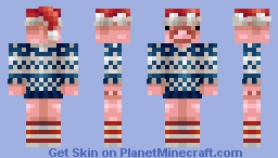 A Christmas bacon Minecraft Skin