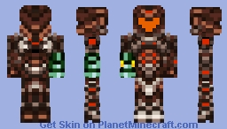 Dark Suit (Metroid Prime 2) Game Accurate Color Minecraft Skin