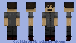 rlly (personal) Black t-shirt version Minecraft Skin
