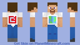 Steve in Minecraft Earth T-Shirt  ( Mojang steve) Minecraft Skin
