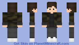 Boy Jacket Camouflage Minecraft Skin