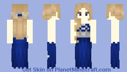 Blue Dress Minecraft Skin
