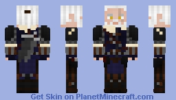 Geralt of Rivia in Mastercrafted Feline Armor - The Witcher 3 Minecraft Skin