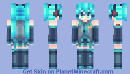 mine craft skins hatsune miku vocaloid minecraft skin 2459