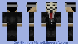 ANONYMOUS HACKER WITH FILTER Minecraft Skin