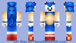 Sonic The Hedgehog (2 Years on PMC!) Minecraft Skin