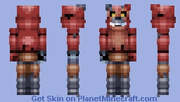 FNaF World Nightmare Foxy Minecraft Skin