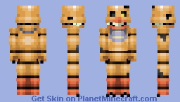 FNaF World Nightmare Chica Minecraft Skin