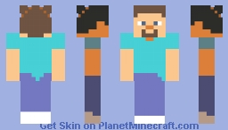 steve with plait Minecraft Skin