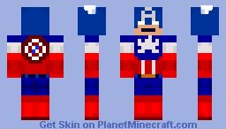 Captain America Minecraft Skin