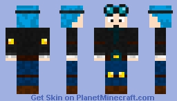 DanTDM [Blue Hair] Minecraft Skin