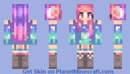 ☾ | Pastel Aurora Minecraft Skin