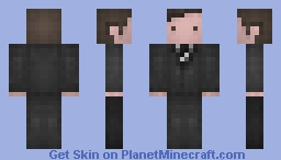 Agent Fox Mulder / The X FILES Minecraft Skin
