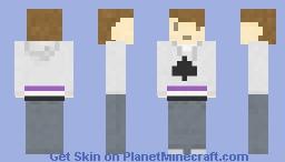 Asexual pride Minecraft Skin