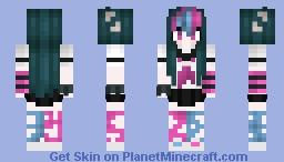Ibuki 3 pìxel arms Minecraft Skin