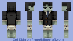 Don't you hate it when you are getting ready for work and then you just turn into a zombie? Minecraft Skin