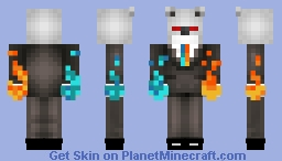 PvP Drop Bear In Suit (Bros Skin) Minecraft Skin