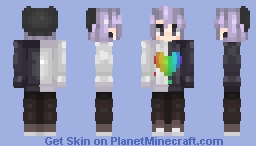 The colors of a rainbow Minecraft Skin
