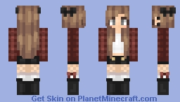 Red Plaid Minecraft Skin