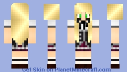 Asia Argento Highschool DxD Minecraft Skin