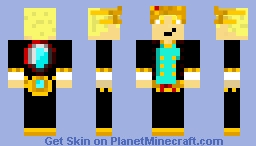 Future Golden Eyes King Minecraft Skin