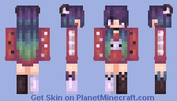 Pʏɴᴇ  Playful Shores + Red Tipped Ver. Minecraft Skin