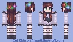 i like flower crowns Minecraft Skin
