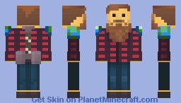 Zitzabis ( PMC moderator ) with BAN-HAMMER Minecraft Skin