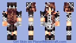 ~Rebel maid~ Lyя (TYSM for 80 subs ILYSM all) Minecraft Skin
