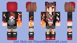 тнιs gιяℓ ιs ση ғιяε Minecraft Skin